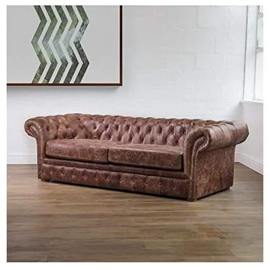 Canapé 3 places Tissu Luxe Chesterfield