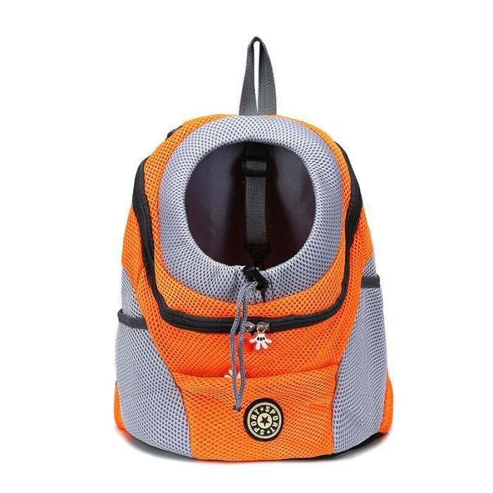 Sac de transport,Sac à dos frontal pour chien chat Animal domestique, sac de voyage pour petits chiens, sac de - Type Orange-S