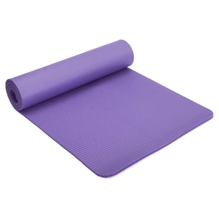 TEMPSA Pliable Tapis de Yoga Antidérapant Epais Mat Gymnastique Fitness Exercise Sport Violet Fonce~YJ13956