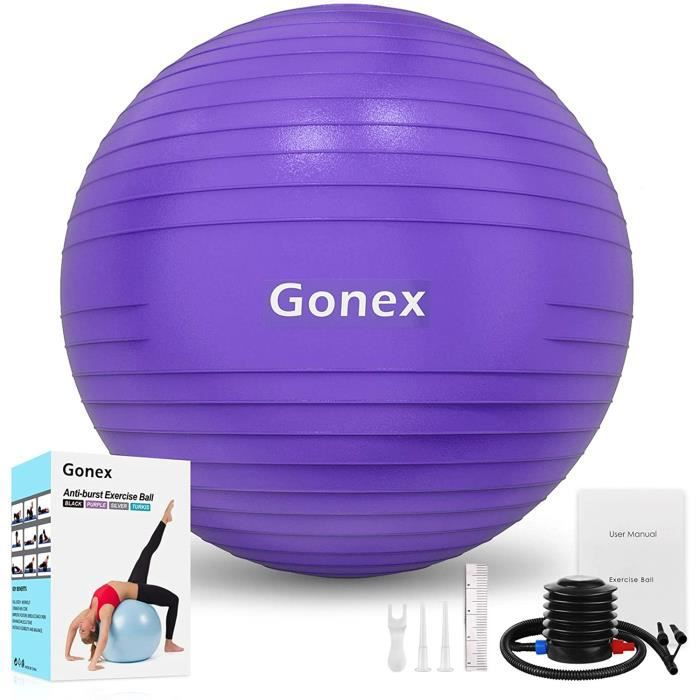 BALLON SUISSE - GYM BALL - SWISS BALL Gonex 55cm 65cm 75cm Ballon Fitness Pompe Incluse Ballon Grossesse Antid&eacuterapant Bal68