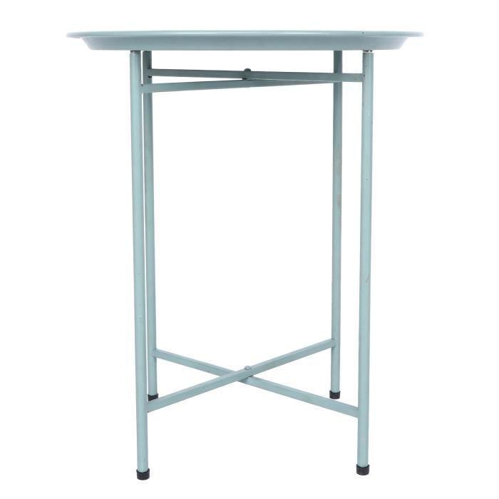 Petite Table de Nuit Tout en Métal , Tables Basses Gigognes Ronde Table d'Appoint Métal Moderne Simple avec Plateau pour Salon