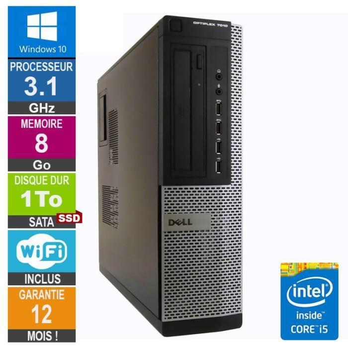 Pc Dell Optiplex 7010 Dt Core i5 2400 3.10Ghz 8Go/1To Ssd Wifi W10