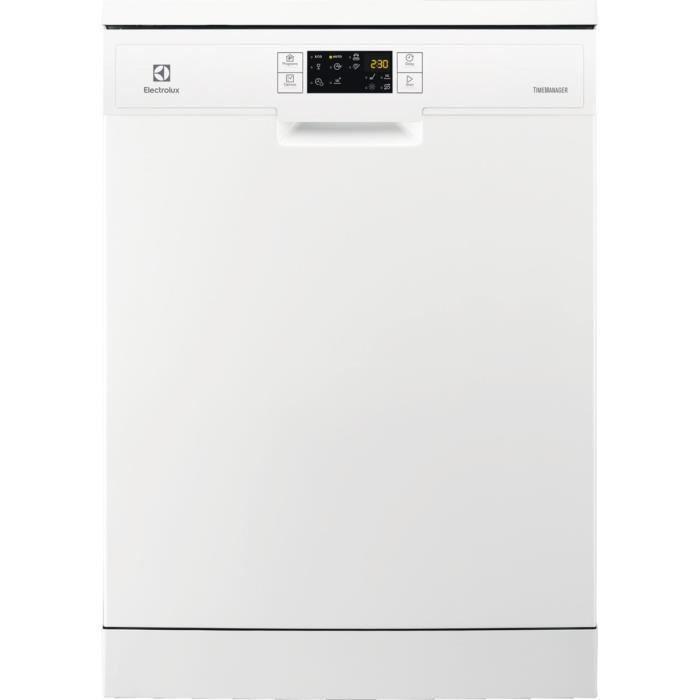 Lave-vaisselle pose libre ELECTROLUX ESF9515LOW - 14 couverts - Moteur induction - Largeur 60cm - 49 dB - Blanc