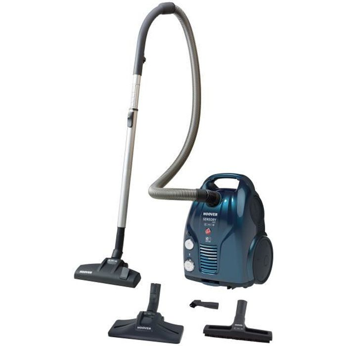 HOOVER SO40PAR SENSORY EVO Aspirateur traineau avec sac 4AAAA++ Performances Ultimes - 72 dB - Bleu brillant