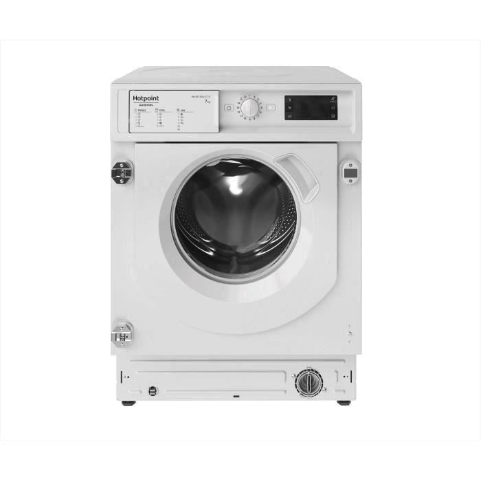 Lave-linge hublot encastrable HOTPOINT BIWMHG71483EU - 7KG - Moteur induction - Largeur 60cm - 1400 tours/min - Blanc