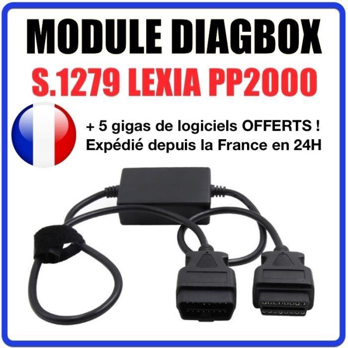 Câble connecteur voiture module S.1279 Peugeot Citroën compatible PP2000 Lexia