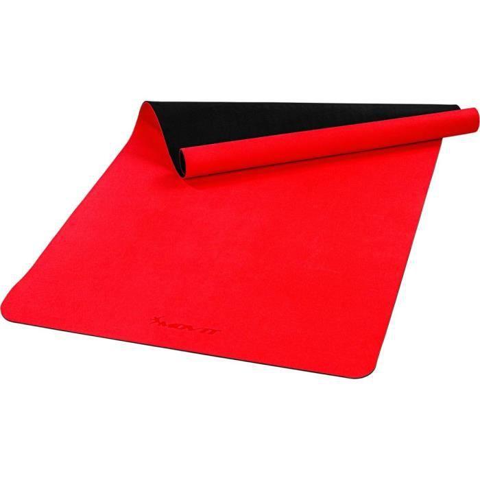 MOVIT Tapis de gymnastique XXL TPE, tapis de pilates, tapis d'exercice premium, tapis de yoga, 190 x 100 x 0,6 cm, rouge