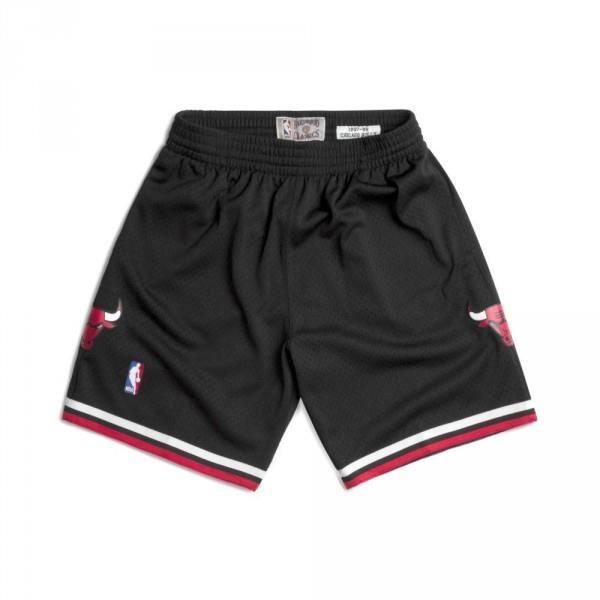 Short NBA Chicago Bulls 1997-98 Mitchell amp Ness Swingman Noir pour Homme