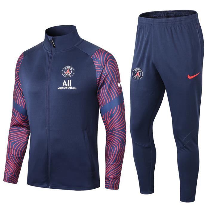 Veste PSG Nouveau Paris Saint Germain Survêtement 2020 2021 Survet Pas Cher pour Homme