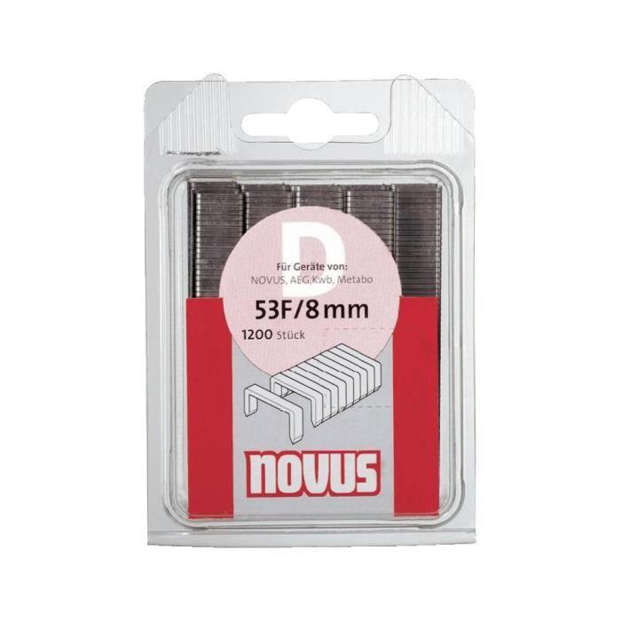 Agrafes à fil plat - type 11 1200 pc(s) Novus G…