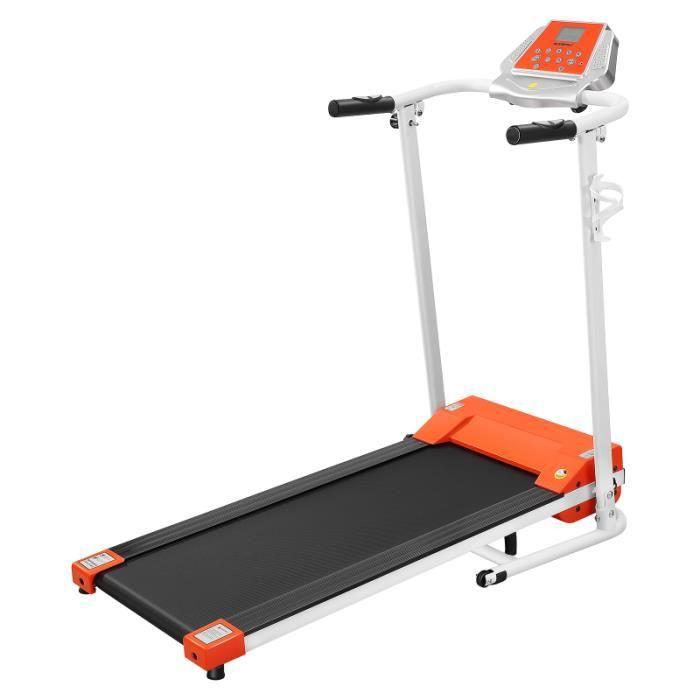 Tapis Roulant Motorisé LCD AFFICHAGE MÉNAGE EN MARCHE PLIANT TAPIS ROULANT POUR INTÉRIEUR tapis de course fitness - musculation