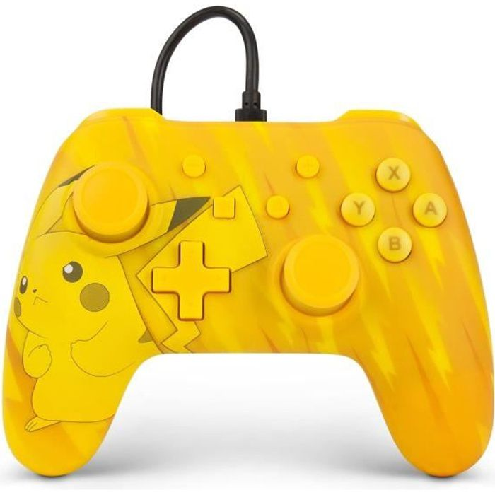 Power a manette nintendo switch wired controller total pikachu