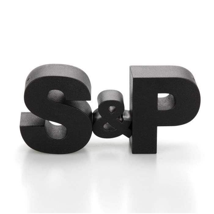 Salière et poivrière S&P noir