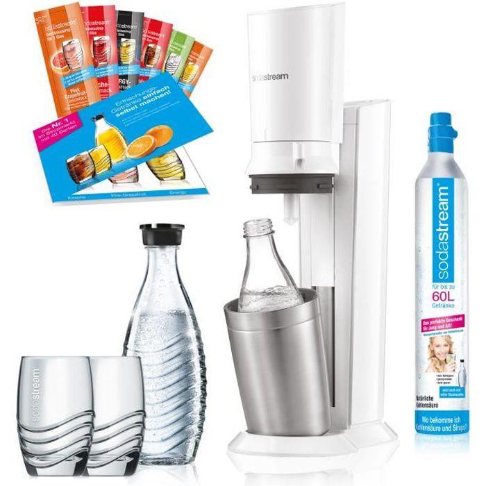 SodaStream Crystal 2.0, Blanc, 0,6 L, 60 L