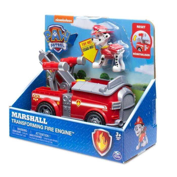 Patrouille de patrouille Marshall transformant le véhicule de camion de pompier avec la figure