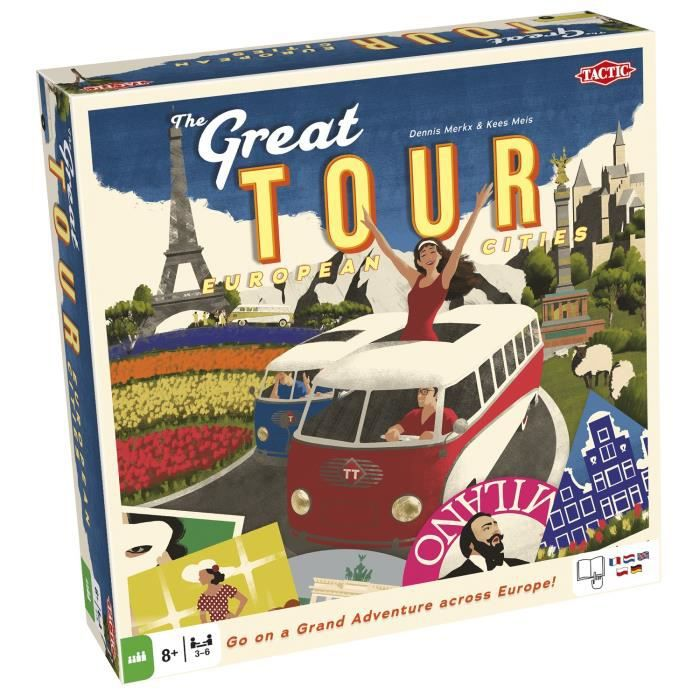 Tactic Great Tour, Voyage-aventure, Enfants, 45 min, Garçon-Fille, 8 année(s), Allemand, Néerlandais, Anglais