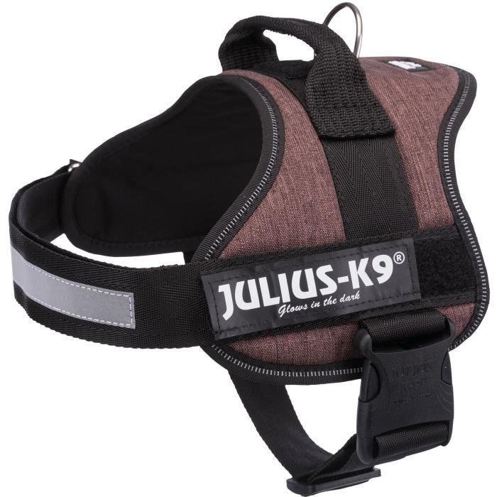 JULIUS K9 Harnais Power 0–M–L : 58–76 cm - 40 mm - Moka - Pour chien