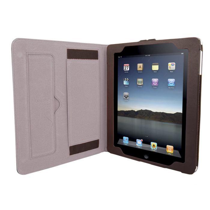 URBAN FACTORY Luxuary Koskin Etui pour tablette - iPad 1, 2- Noir / Fushia