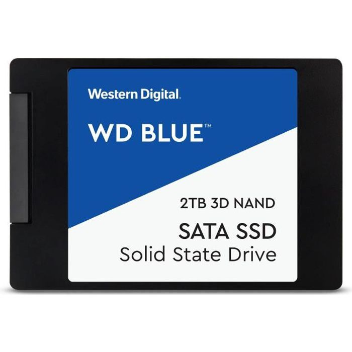 WESTERN DIGITAL Blue 3D NAND SATA SSD WDS200T2B0A - Disque SSD - 2 To - interne - 2.5