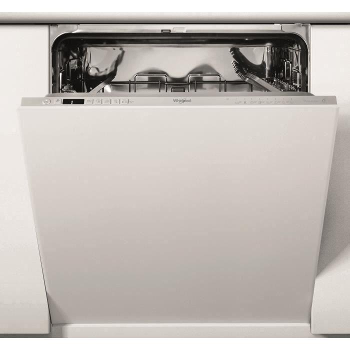 Lave-vaisselle tout intégrable WHIRLPOOL WIC3C34PE - 14 couverts - Moteur induction - Largeur 60 cm - 44 dB - Blanc