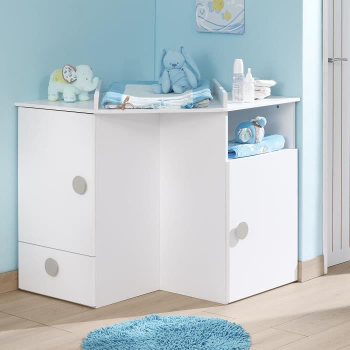 camille meubles meuble d 39 angle langer pour enfant blanc achat vente table langer. Black Bedroom Furniture Sets. Home Design Ideas