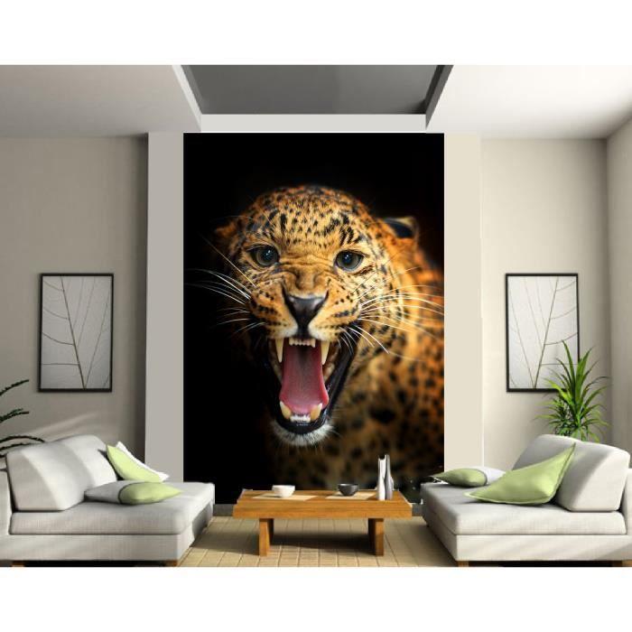Papier Peint Grande Largeur Leopard 2 Les 140x200cm Achat Vente Papier Peint Papier Peint Grande Largeur Le Cdiscount