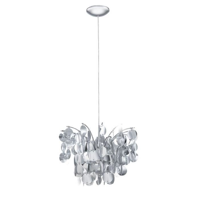 Suspension luminaire salon chrome achat vente for Suspension salon pas cher