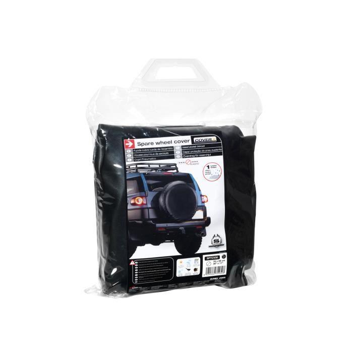 Housse de roue de secours noire pour auto voiture 4x4 caravane camping car utilitaire pour taille 205//65R17