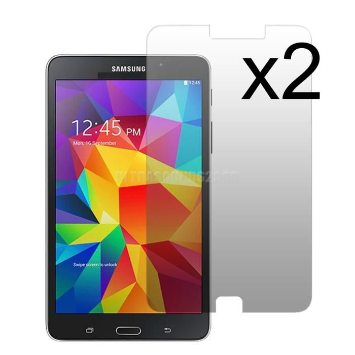 2 film protection samsung galaxy tab 4 7 0 sm t2 prix. Black Bedroom Furniture Sets. Home Design Ideas
