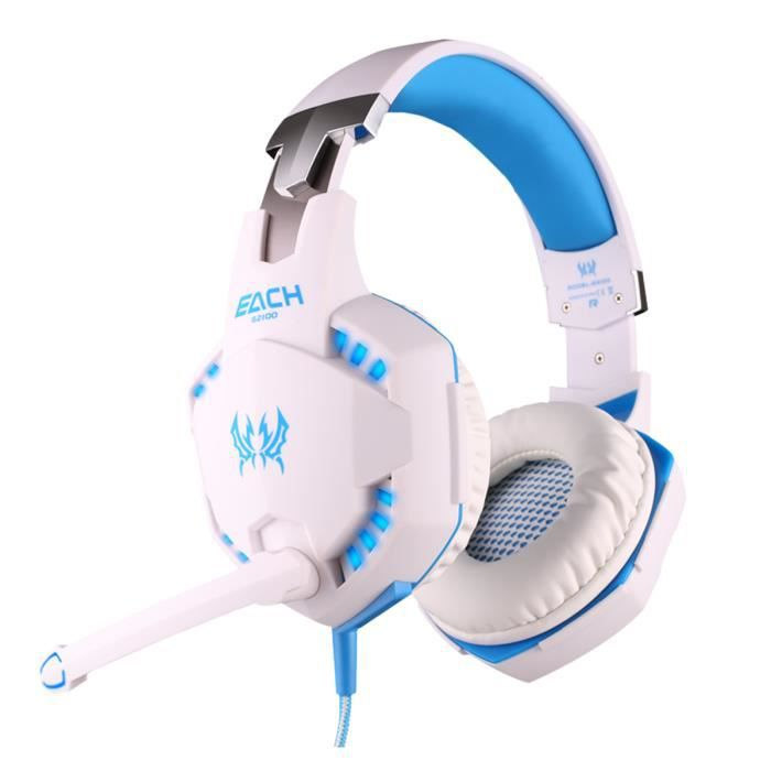 CASQUE AVEC MICROPHONE EACH Headset Gaming Headphone Gaming Confortable 3