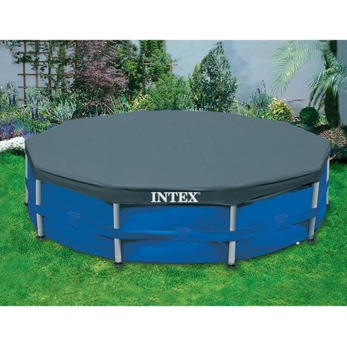 Intex b che de protection pour piscine ronde 3 66m achat for Bache pour piscine ronde