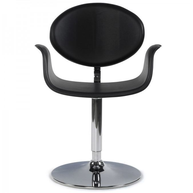 Chaise fly rotative design noire achat vente chaise for Chaise noir fly