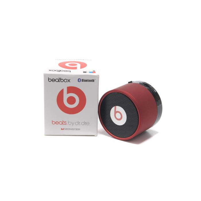 monster beats bluetooth mini haut parleur rouge achat