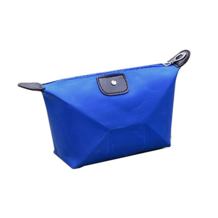 pochette sac main voyage de la femme make up purse cosmetic bleu achat vente trousse de. Black Bedroom Furniture Sets. Home Design Ideas