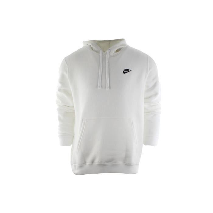 Sweat Nike Club Fleece 804346 100 Blanc Achat Vente