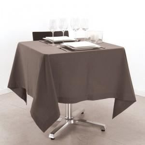 nappe carr 150x150cm taupe achat vente nappe de. Black Bedroom Furniture Sets. Home Design Ideas
