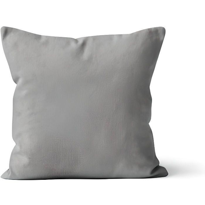 Housse de coussin 60x60 gris - Achat / Vente