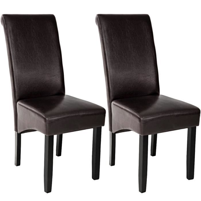 2 chaises de salle manger design 105 cm marron chaises. Black Bedroom Furniture Sets. Home Design Ideas