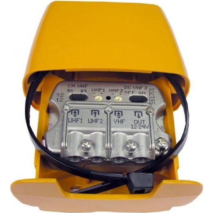 AMPLIFICATEUR HIFI Amplificateur de Mât NanoKom 3e-1s 'Easy' F - UHF[
