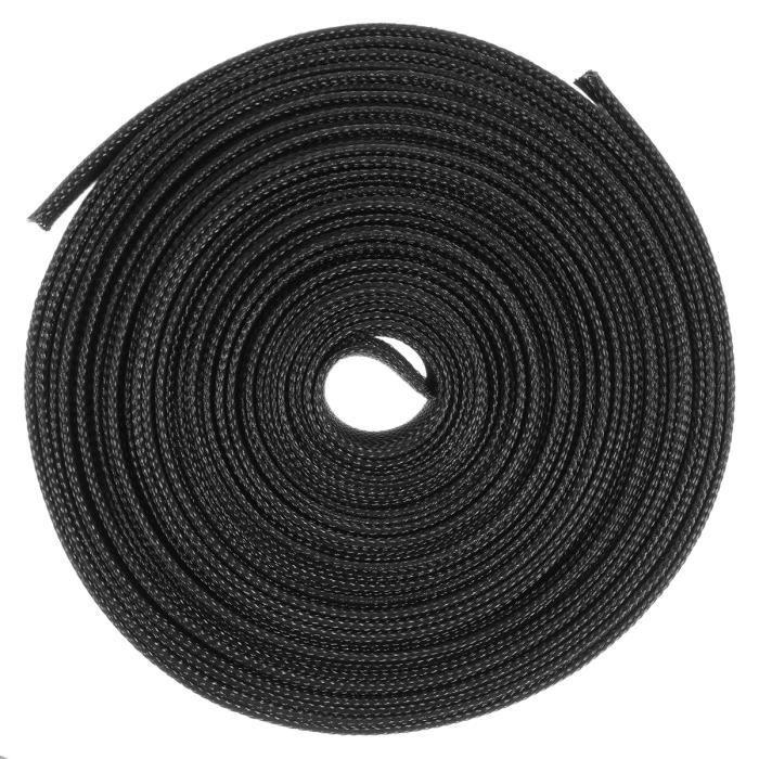 10MM Etase Tube thermoretractable noir Enveloppe de tube de gaine thermoretractable pour cable//fil electrique de voiture 1M