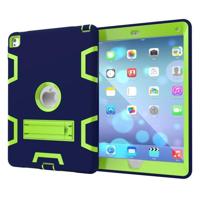 coque de protection pour ipad air 2 ipad pro 9 7 housse etui case pochette anti choc chute bleu. Black Bedroom Furniture Sets. Home Design Ideas