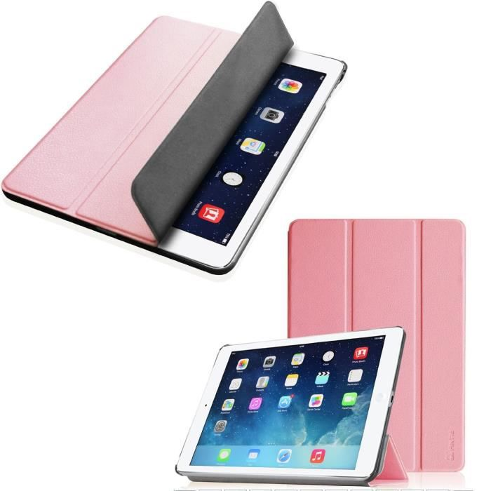 etui housse apple ipad air 2 smartcover rose achat housse tui pas cher avis et meilleur. Black Bedroom Furniture Sets. Home Design Ideas