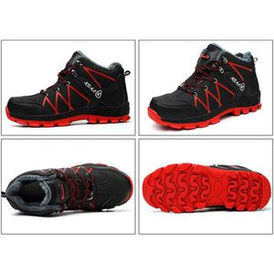 Sparco Urban Evo Black//red S3 SRC Non-Metal Safety Trainer Shoe with Midsole