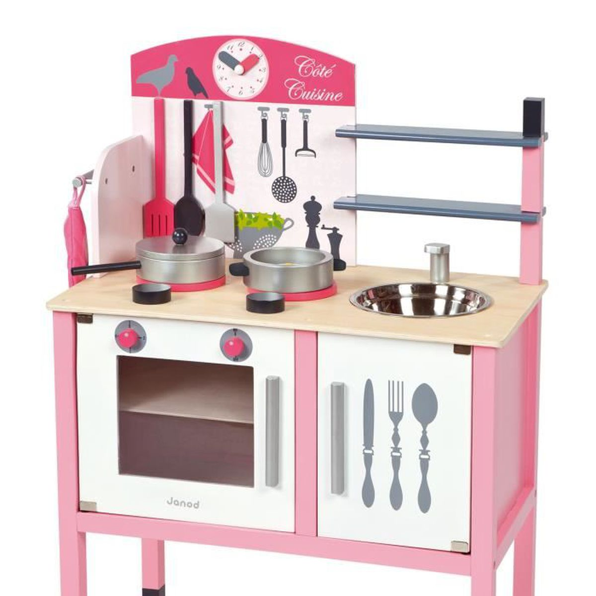 maxi cuisine cuisine en bois rose pour enfant achat. Black Bedroom Furniture Sets. Home Design Ideas