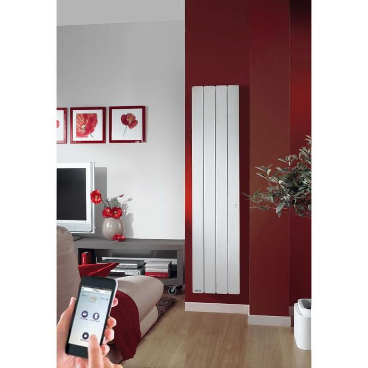 radiateur inertie fonte noirot bellagio smart ecocontrol vertical 1000 w achat vente. Black Bedroom Furniture Sets. Home Design Ideas
