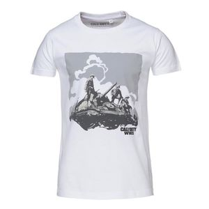 T-SHIRT T-shirt Konix Call of Duty WWII - Blanc