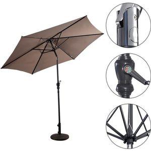 PARASOL Parasol de Jardin Inclinable Ø 3 M en Polyester Pa