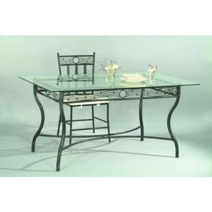 le lit de vos r ves table salle a manger verre et fer forge. Black Bedroom Furniture Sets. Home Design Ideas