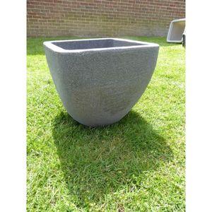 JARDINIÈRE - BAC A FLEUR UK-Gardens Grand pot à fleurs en granit effet gris
