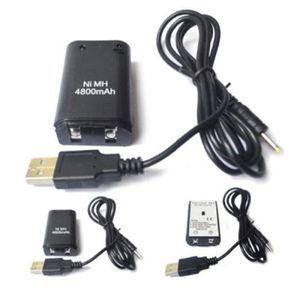 ADAPTATEUR MANETTE Pack 2 batteries et cable de recharge pour manette